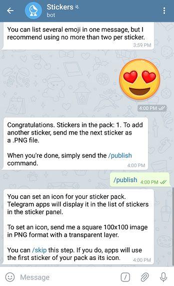 own telegram stickers
