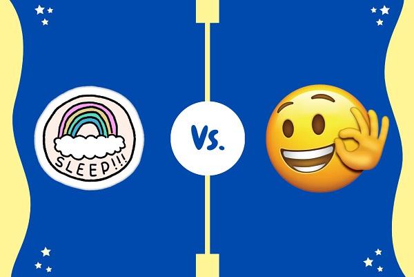 telegram sticker vs emoji