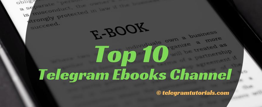 10+ Best Telegram Ebook Channels List - Telegram Tutorials
