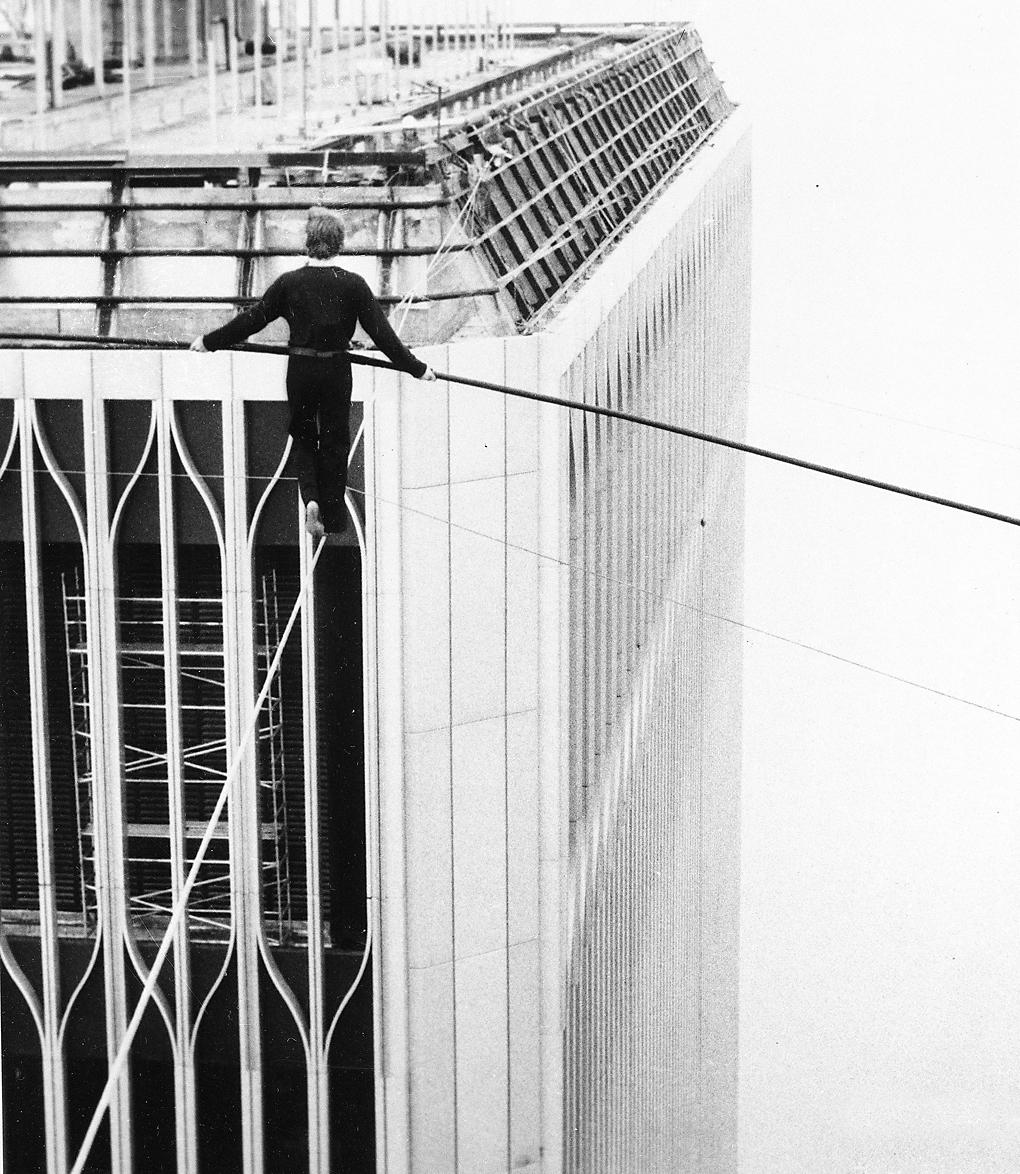 40 Years Ago Today Philippe Petit Walks A Tightrope
