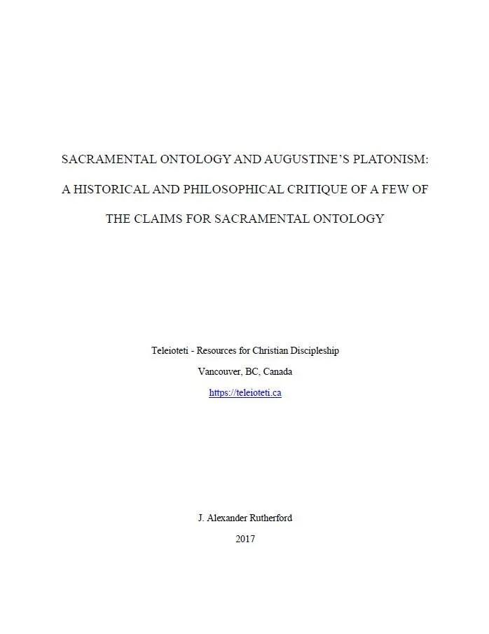 Sacramental Ontology Cover
