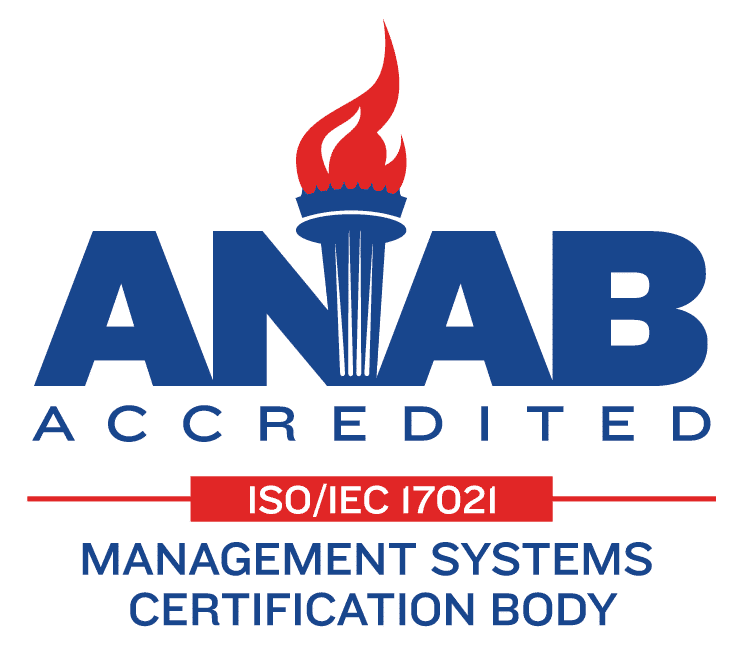 ANAB Accredited ISO/IEC 17021 Management Systems Certification Body