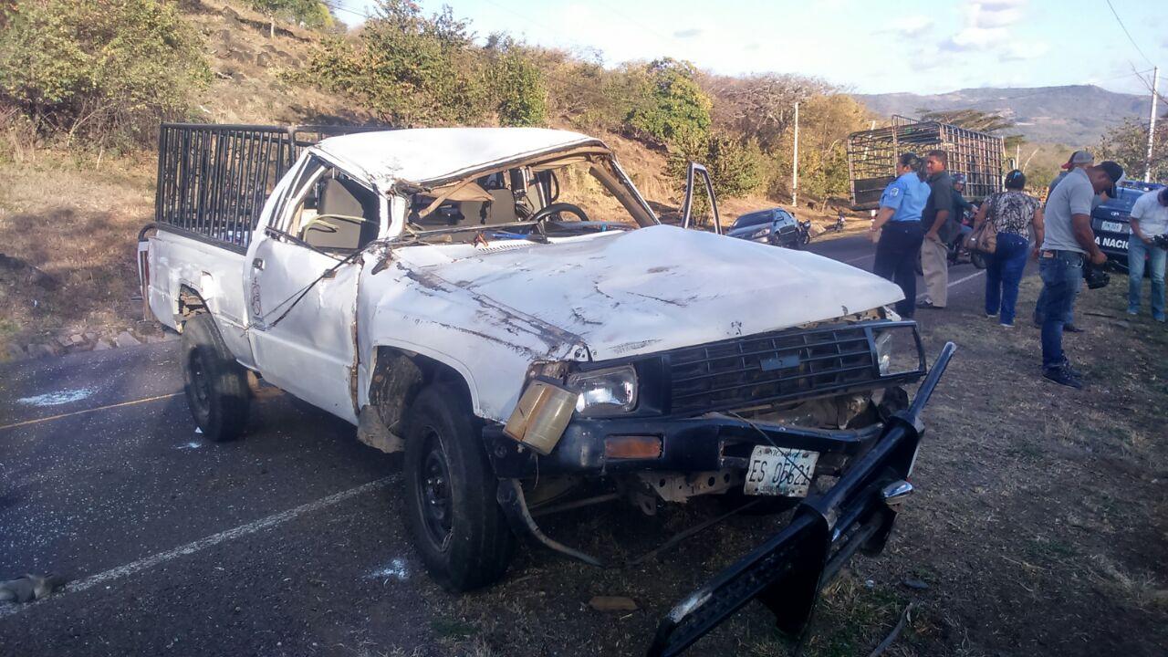 Un muerto y dos lesionados por accidente de tránsito en Estelí.