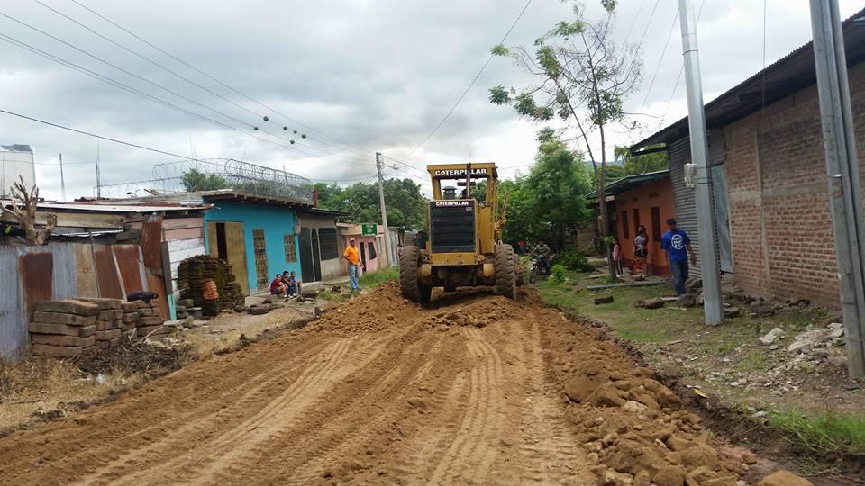 Mejoran calles en la ciudad de Estelí.