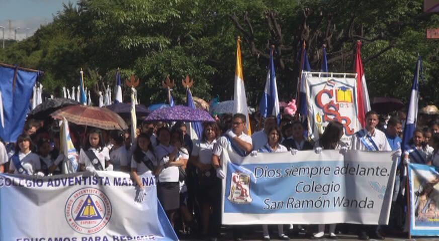 Colegios públicos y privados en Estelí celebraron las fiestas patrias