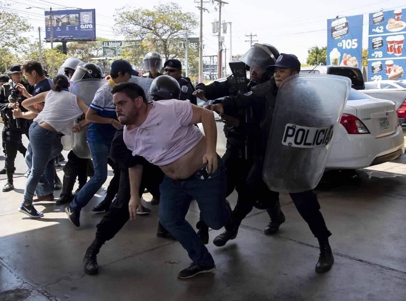 Protestas antigubernamentales deja 107 detenidos en Nicaragua