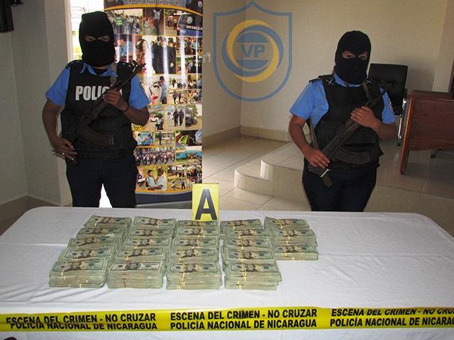 Incautan droga y 179 mil dólares en Chinandega.