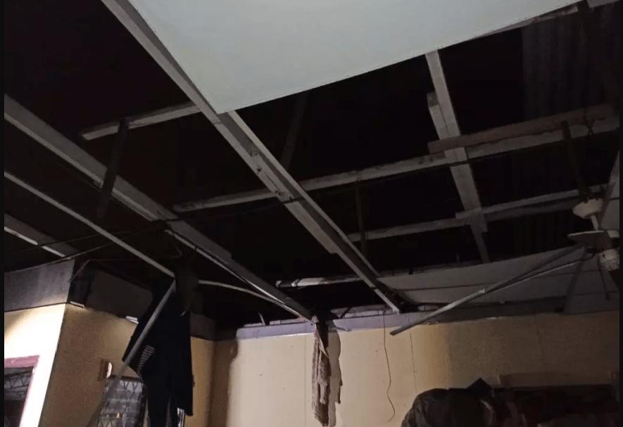 Tornado destruye el techo de varias viviendas en Managua.