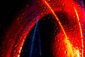 Exemplo de Light Painting (longa exposição) e Macrofotografia
