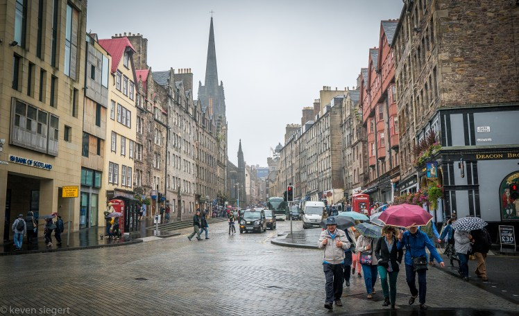 Street Scene, Edinburgh - Scotland