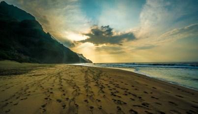 Clouds - Kalalau Beach Trail, Kauai
