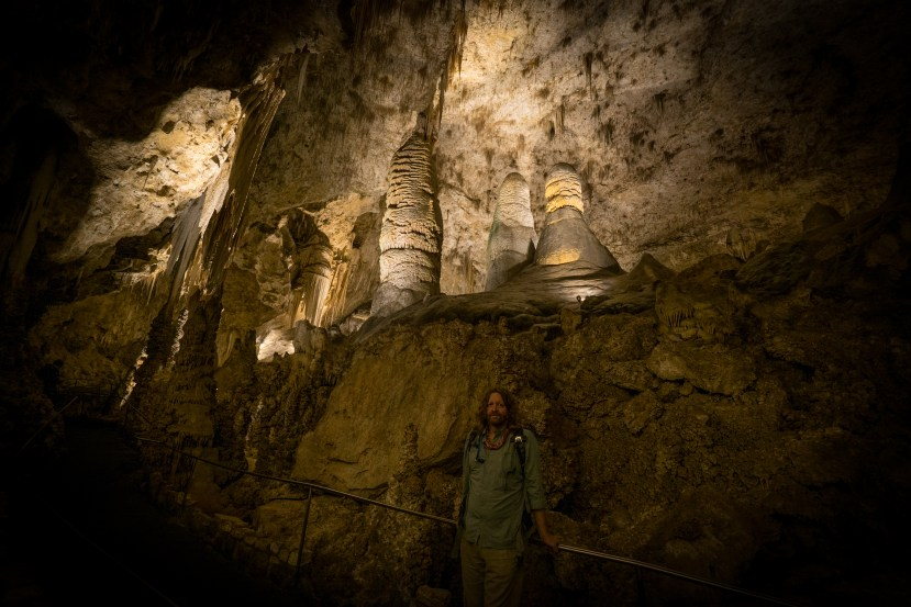Kev and Columns - Carlsburg Caverns National Park, New Mexico