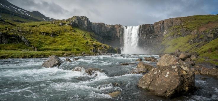 Falls above Seydisfiordur, Iceland
