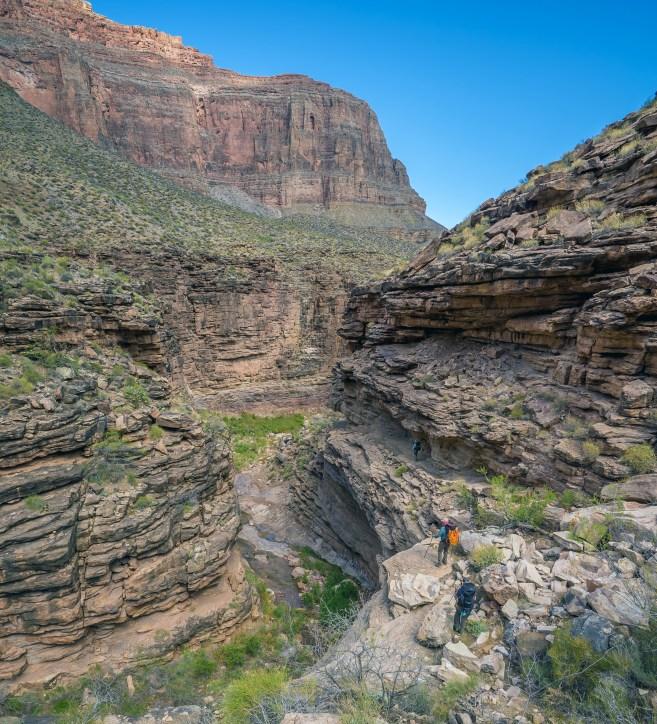 Descending to Hermit Creek