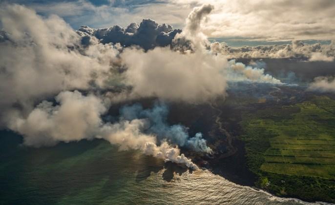 Kilauea Lava Meets the Sea WS