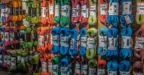 Climbing Ropes in a Chamonix Shop
