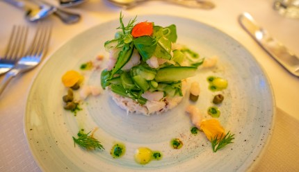 Crab and Prown Salad - The Bervie
