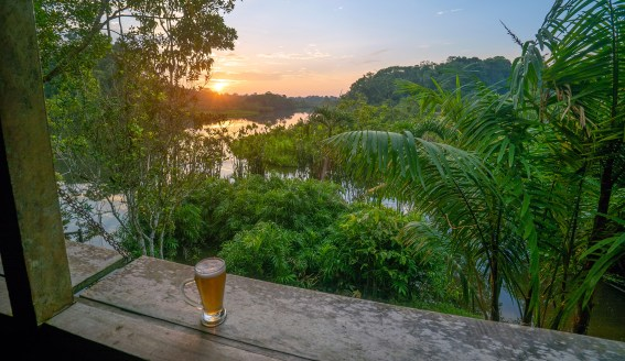 Sani Lodge Sunset Beer