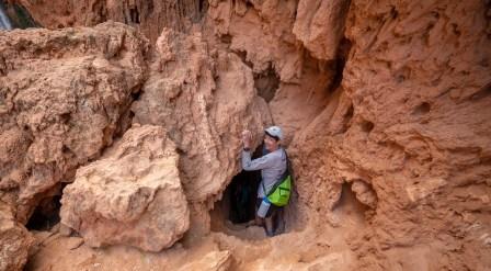 Ann Descending Down to Mooney Falls