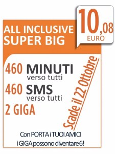 All inclusive super big OTTOBRE 2015