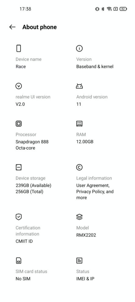 Exclusif Realme Race arrive avec le chipset Snapdragon 888 voici à quoi il ressemble telephoni1