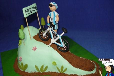 Tarta Fondant Ciclista