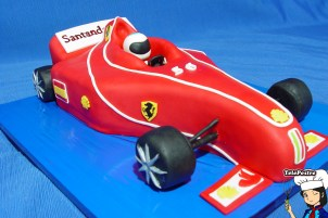 Tarta Fondant Ferrari