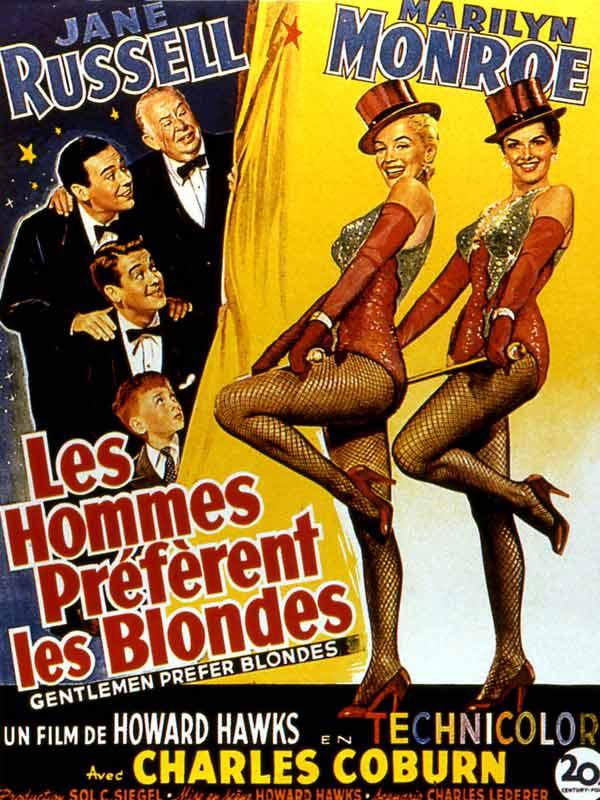 Les Hommes Préfèrent Les Blondes : hommes, préfèrent, blondes, Hommes, Préfèrent, Blondes, Howard, Hawks, (1953), Comédie, Musicale