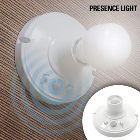 Porta Lampadine con Sensore di MovimentoFunciona con qualsiasi lampadina con vite standard E27