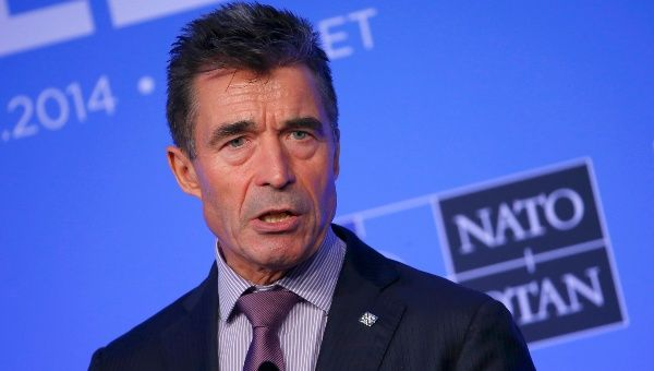 NATO Secretary-General Anders Fogh Rasmussen speaks during a news conference in September, 2014. (Photo: Reuters)