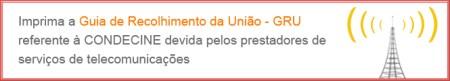 Banner no site da Ancine leva ao site para impressão de GRU para pagamento da Condecine Teles