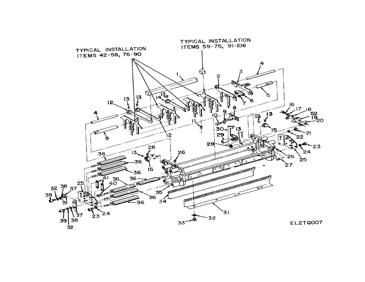 Figure 7. Keyboard Frame and Keylever Assembly