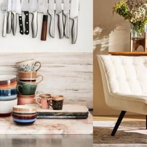 Woonfavorieten; velvet leunstoel, spiegel met frame + mierzoete snijplank