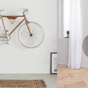Woonfavorieten; rotan kinderbed, ovale spiegel en fietsenhanger met koperen touch