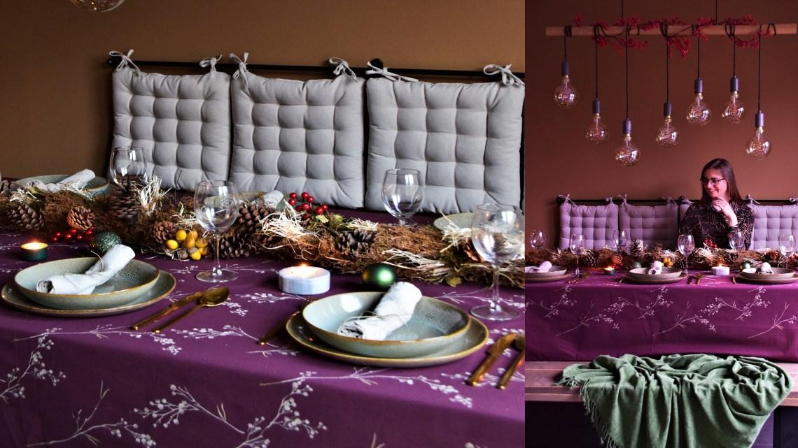Mijn kersttafel met rijkelijke natuurlijke kleuren + 7 tips voor een mooi gedekte tafel!