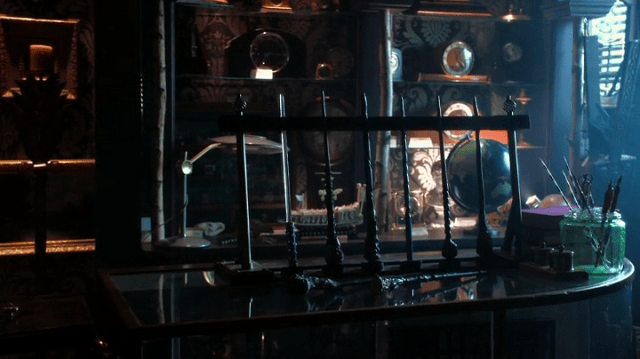 a screencap of the fairy wands in Mr. Gold's pawn shop