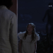 a screencap of young baelfire (played by dylan schmid), wendy darling (played by freya tingley) and the shadow played by cgi