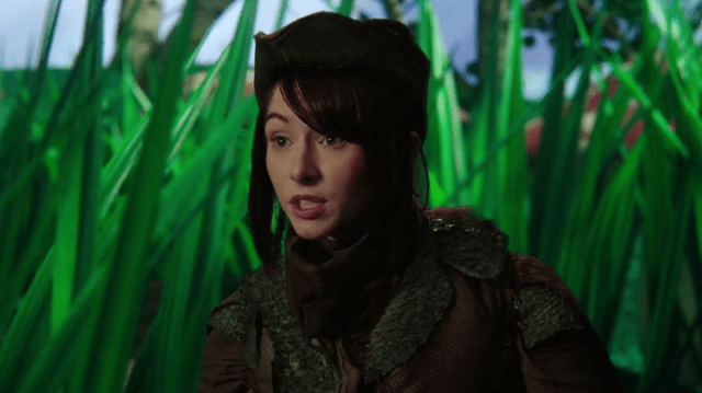 a screencap of elizabeth the lizard (played by lauren mcknight)