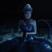 a screencap of regina (played by lana parrilla) transformed into ursula the sea goddess