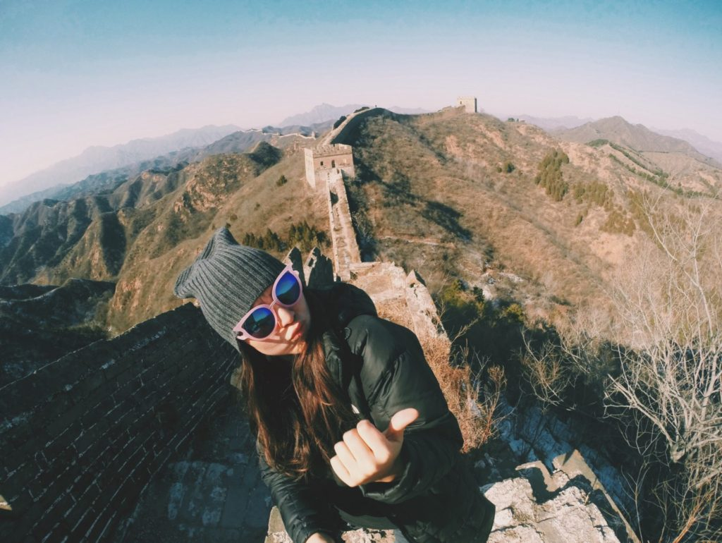 Lauren at the Great Wall: Things to do in Beijing for Chinese New Year