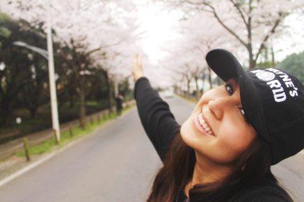 Lauren enjoying spring in Korea in Jeju City!