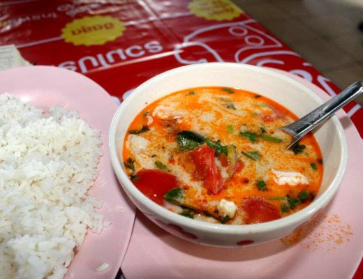 Tom Kha Goong (Sour Shrimp Soup) in Chiang Mai, Thailand