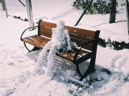 My lovely snowwoman