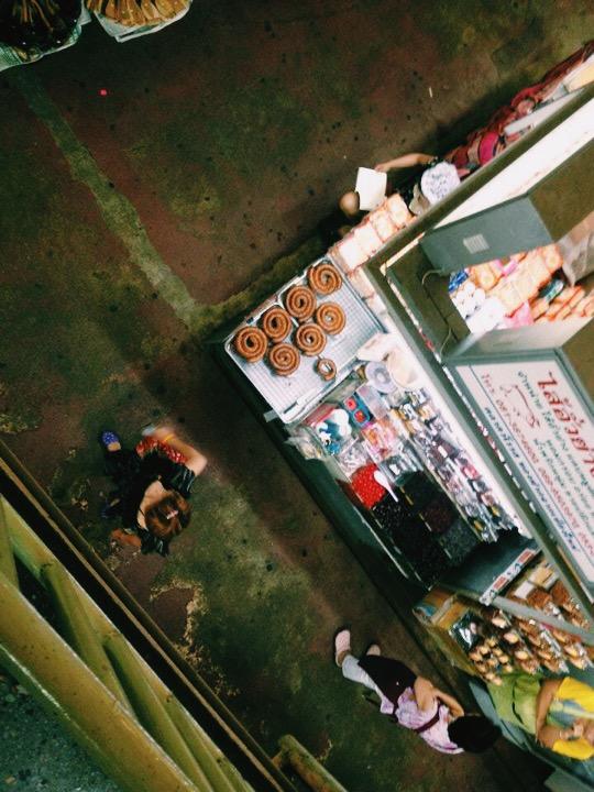 Bird's-eye view of Warorot Market in Chiang Mai, Thailand