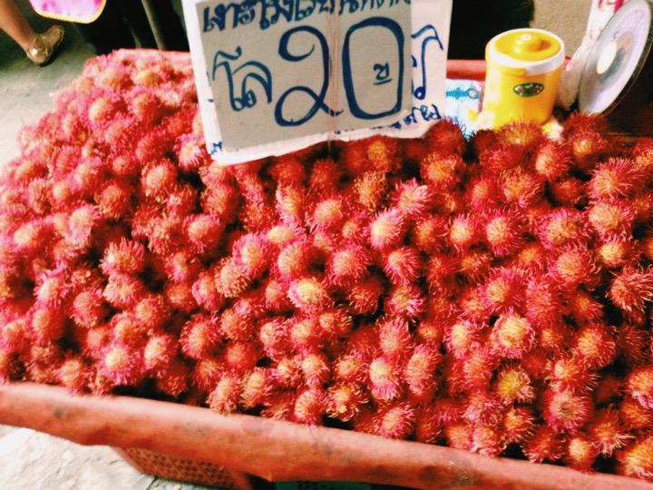 Rambutan for 20 baht at Warorot Market, Chiang Mai, Thailand