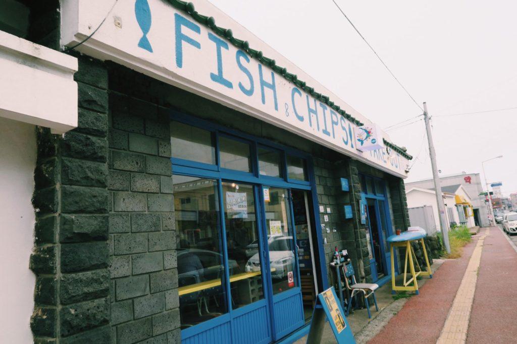 Willala Fish and Chips sign, Jeju Island