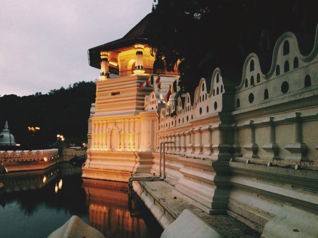 Buddhist Temple of the Tooth in Kandy, Sri Lanka
