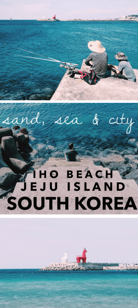 Iho Beach on Jeju Island is worth a trip for its vibrant blue waters and quirky horse lighthouses.
