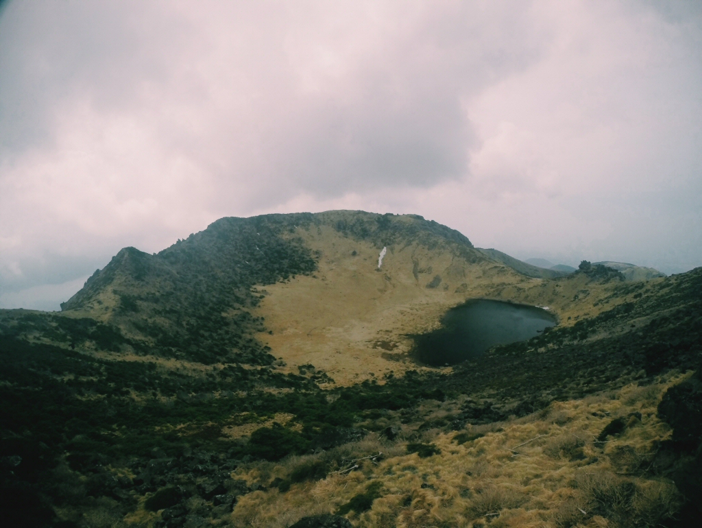 Baengnokdam Crater at the top of Hallasan Mountain