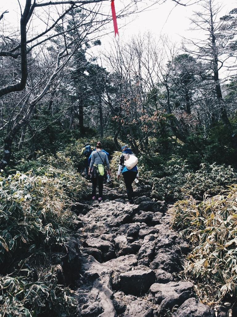 Even rockier path at Hallasan Mountain